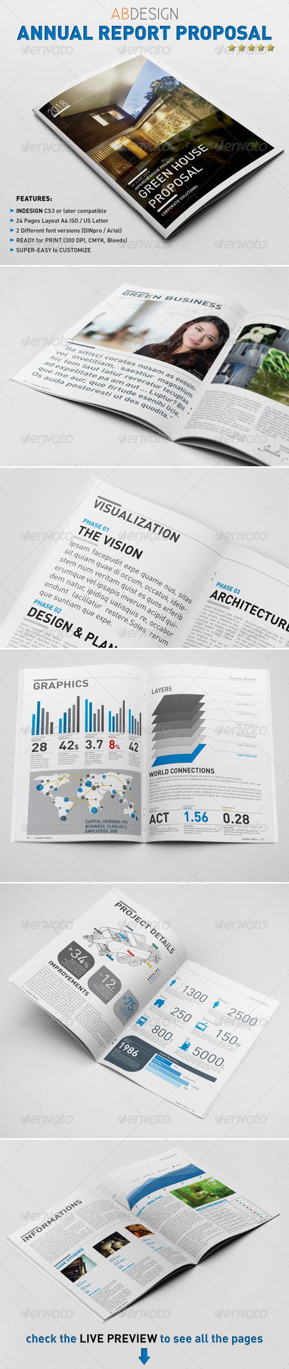 GraphicRiver Annual Report Proposal Template 1046119