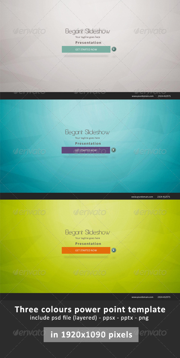 Elegant Presentation Power Point - Business Powerpoint Templates