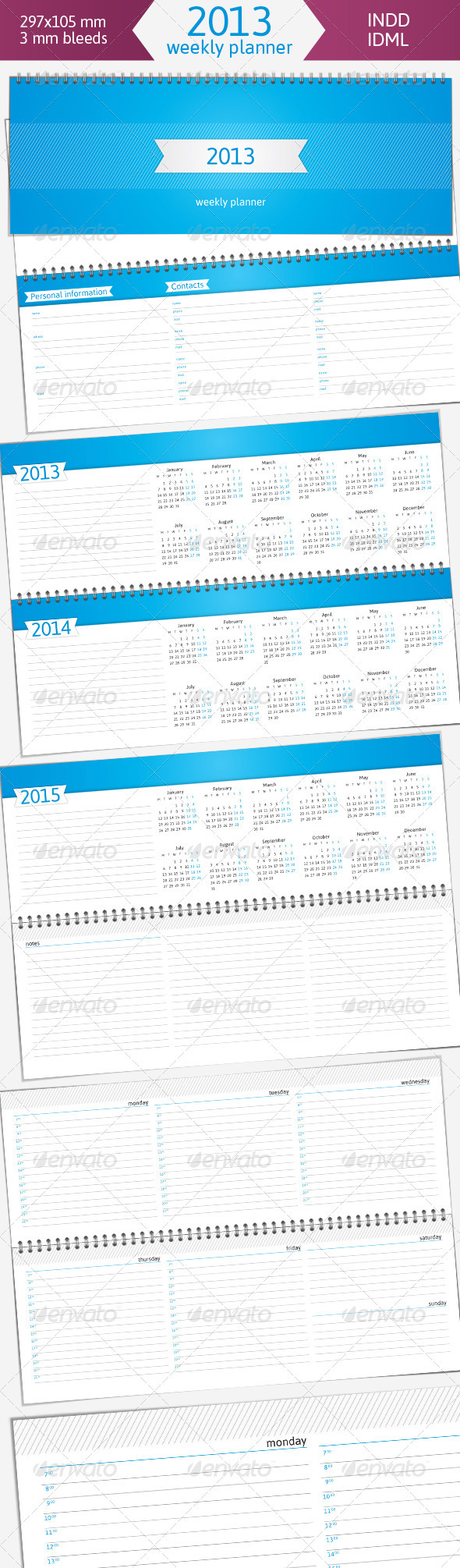 GraphicRiver 2013 Weekly Planner 3574515
