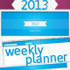 2013 Weekly Planner - GraphicRiver Item for Sale