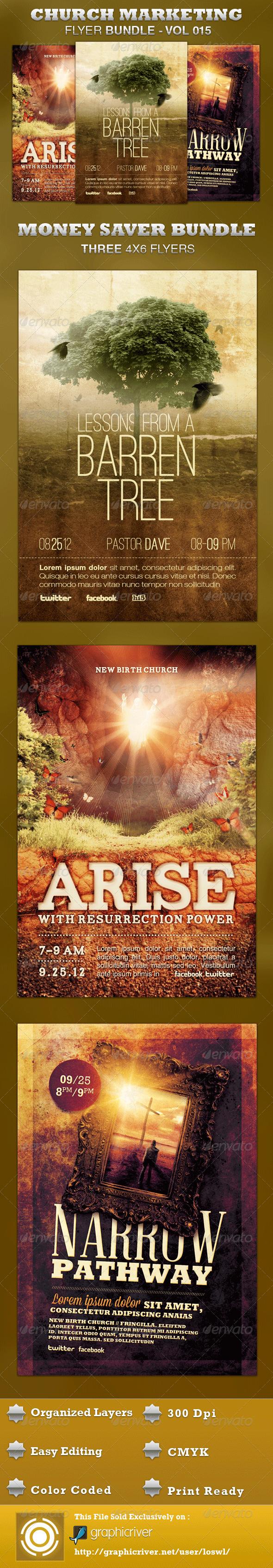 GraphicRiver Church Marketing Flyer Bundle-Vol 015 3544365