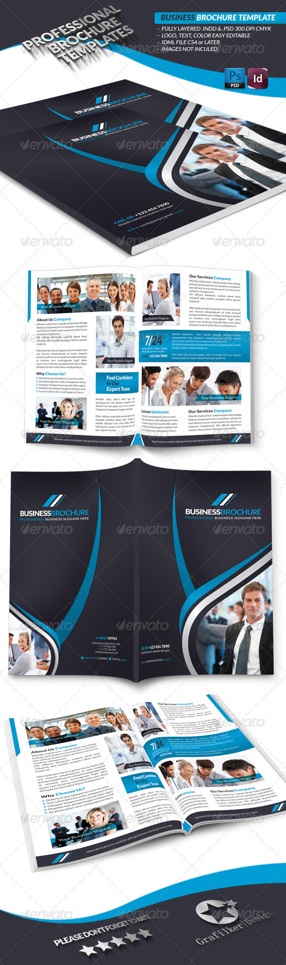 GraphicRiver Business Brochure Template 3574967