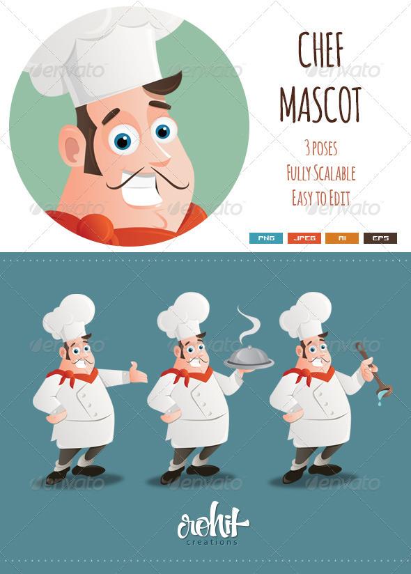 Chef Mascot - People Characters