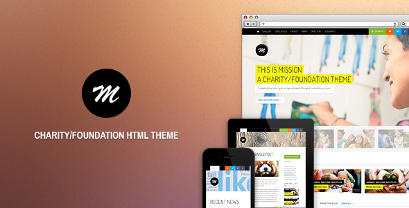 ThemeForest Mission Responsive HTML Theme For Charity 3575035