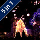Turning On The Christmas Lights In A Small City - VideoHive Item for Sale