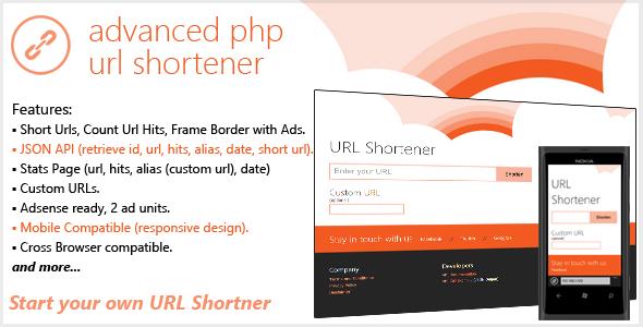 Advanced PHP URL Shortener