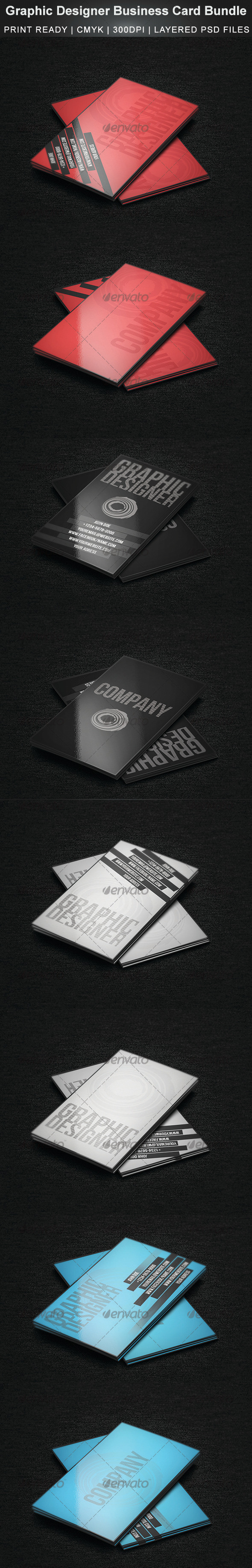 GraphicRiver Graphic Designer Business Card Bundle 3575624
