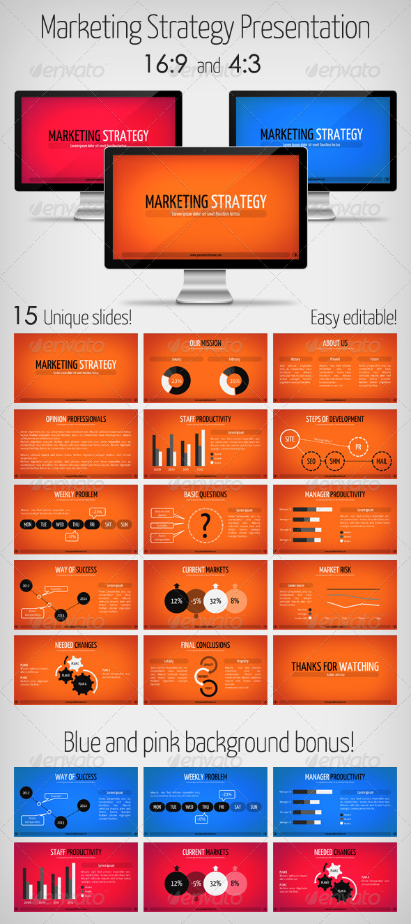 GraphicRiver Marketing Strategy Presentation Keynote 3576029
