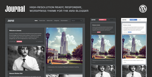 ThemeForest Journal Responsive WordPress Tumblog Theme 3559937