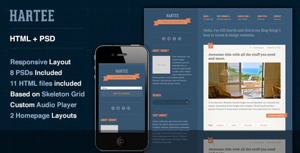 Hartee - A Tumblr Style HTML Template