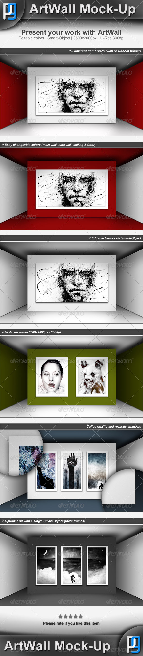 GraphicRiver Gallery Wall Art Mock-Up 3576313