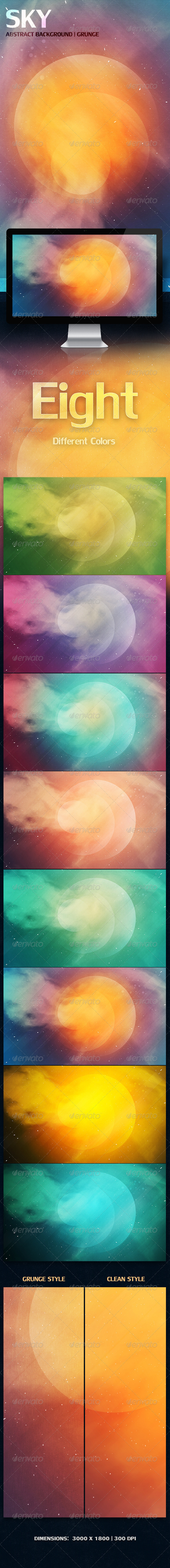 GraphicRiver SKY Abstract Background Grunge 3576462