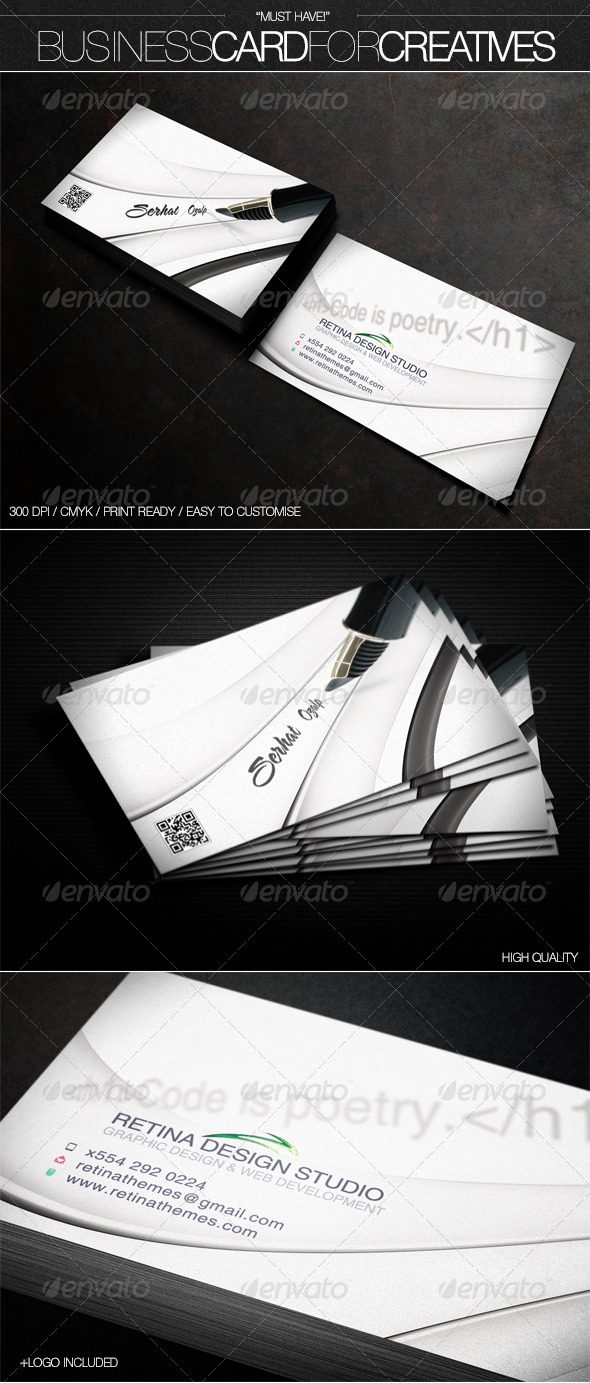 GraphicRiver Business Card for Creatives 3576476