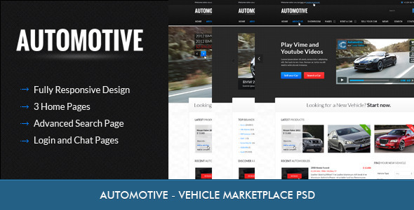 Automotive - Car Dealer  - Retail PSD Templates