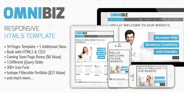 Omnibiz - Responsive Premium Website Template