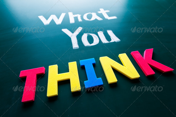 What you think concept - Stock Photo - Images