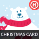 Illustrated Christmas Card with Polar Bear - GraphicRiver Item for Sale