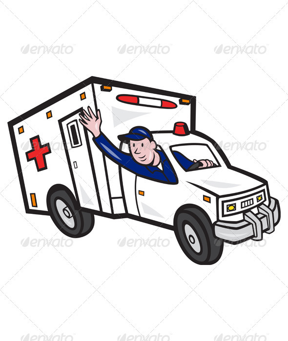 GraphicRiver Ambulance Vehicle Emergency Medical Technician 3576621