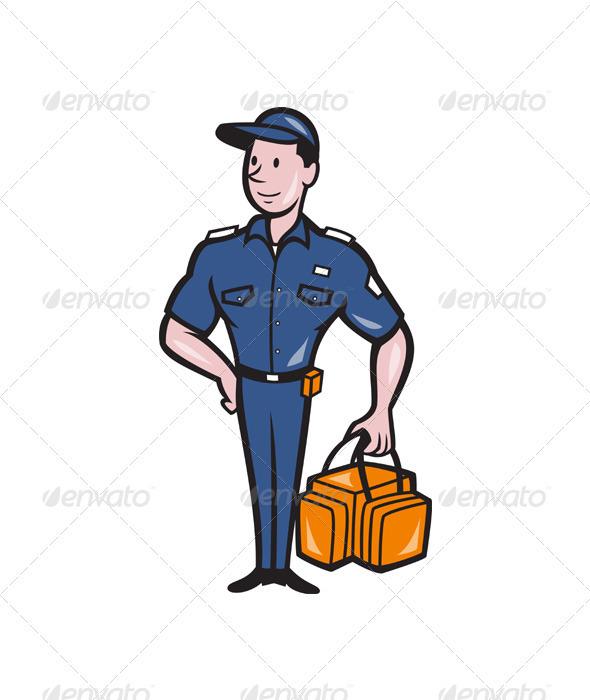 GraphicRiver Emergency Medical Technician Paramedic EMT Cartoon 3576809