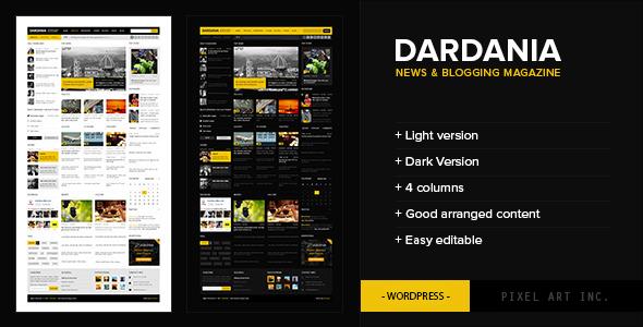 ThemeForest Dardania News Theme 3548972