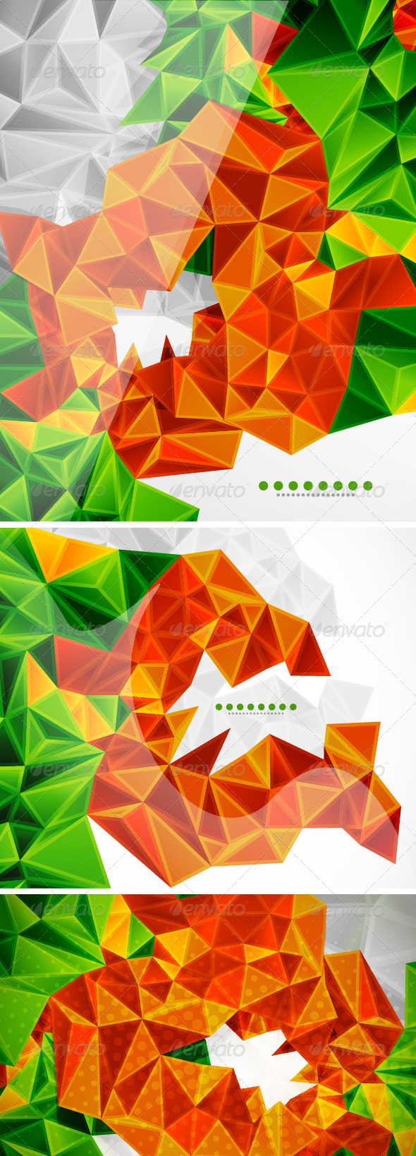 GraphicRiver Vector Mosaics Backgrounds 3577133