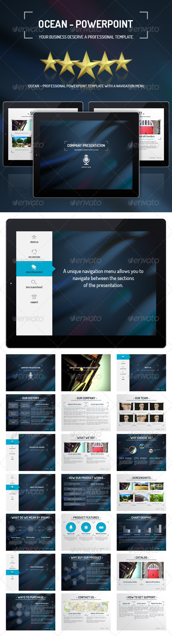 GraphicRiver Ocean PowerPoint Presentation Template 3544449