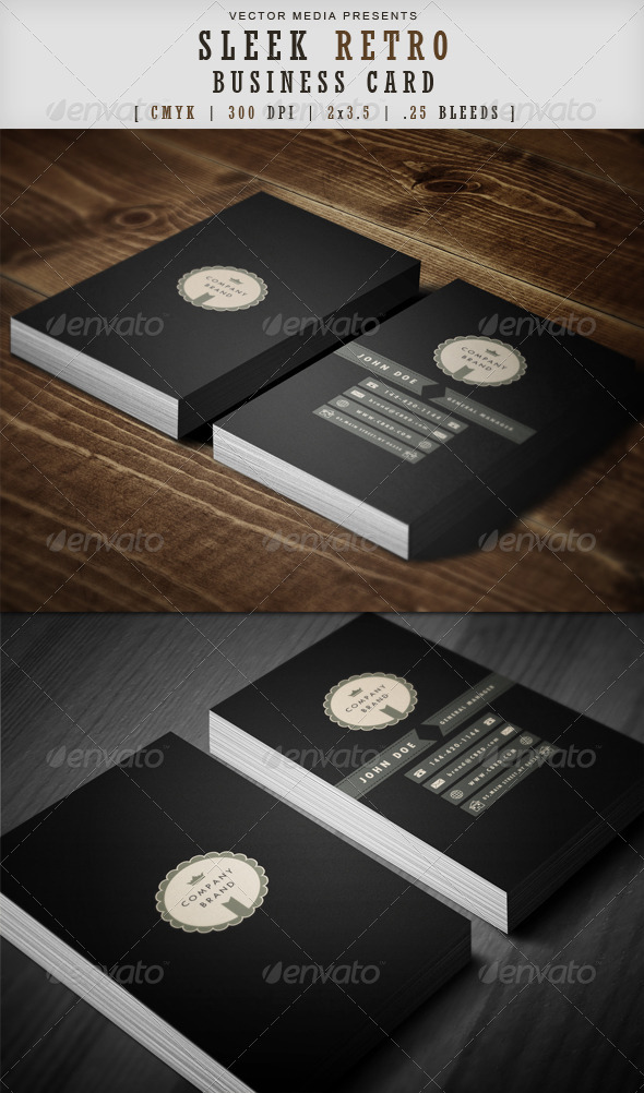GraphicRiver Sleek Retro Business Card 3578056