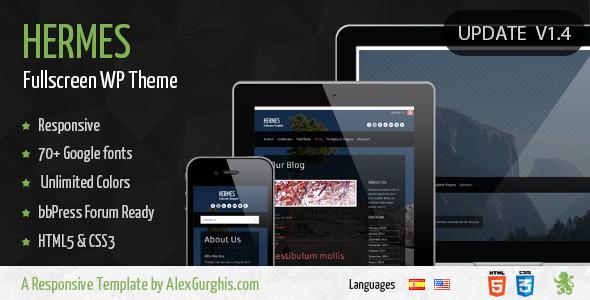 ThemeForest Hermes Fullscreen Premium WordPress Theme 2585523