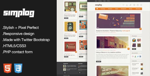 ThemeForest Simplog Responsive HTML5 Blog Template 3545846