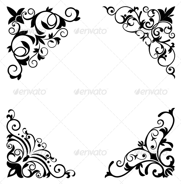 GraphicRiver Flower Patterns and Borders 3579911