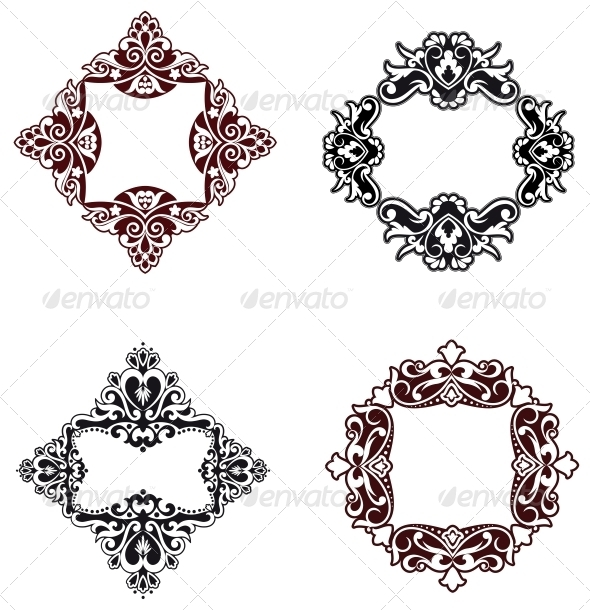 GraphicRiver Flower Patterns and Borders 3579964