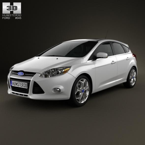 3DOcean Ford Focus Hatchback Titanium 2012 3580120