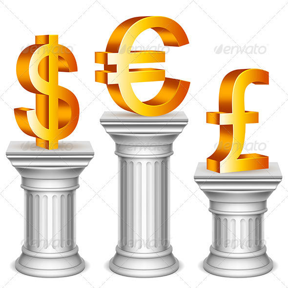 GraphicRiver Currency Symbols on Sport Podium 3580146