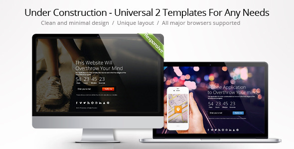 Under Construction - Universal Theme For Any Needs - Under Construction Specialty Pages