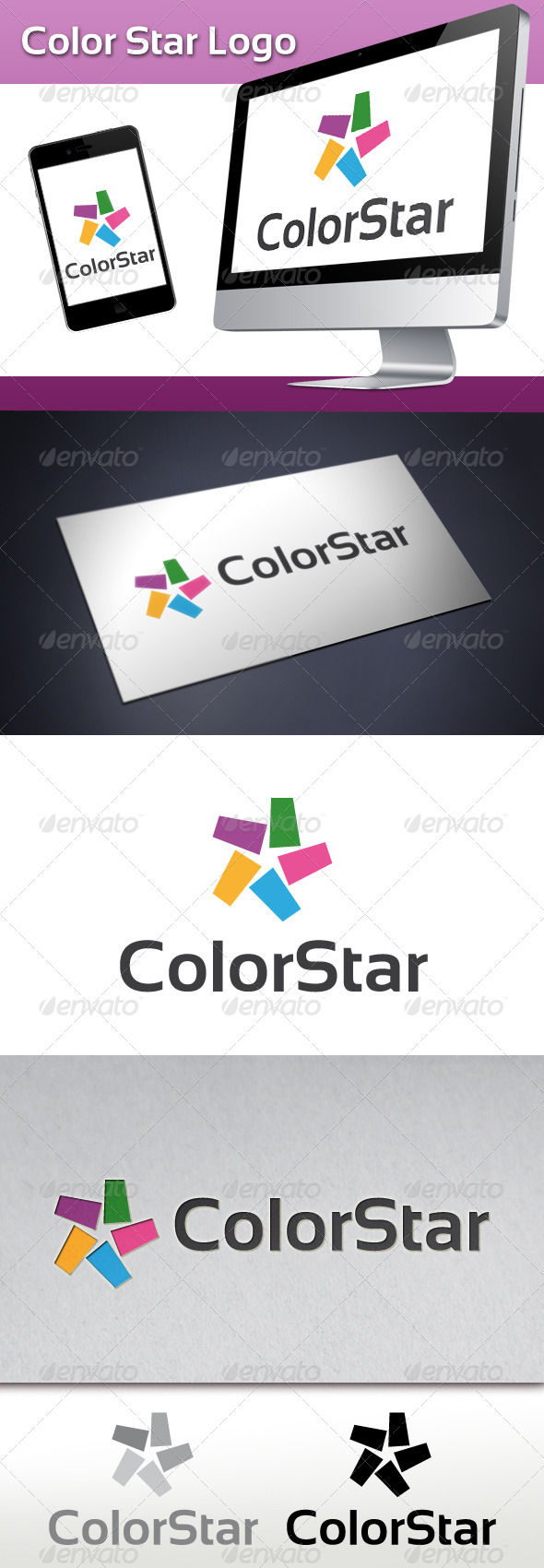 GraphicRiver Color Star Logo 3546946