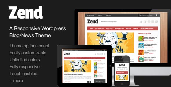 ThemeForest Zend Responsive Blog Magazine Wordpress theme 3139105