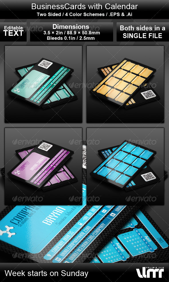 GraphicRiver Calendar and Business Card 3508823