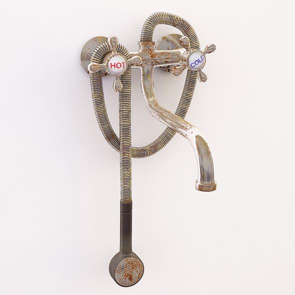3DOcean Old rusty faucet 3580446