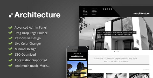 Architecture - Premium Wordpress Theme - introduction