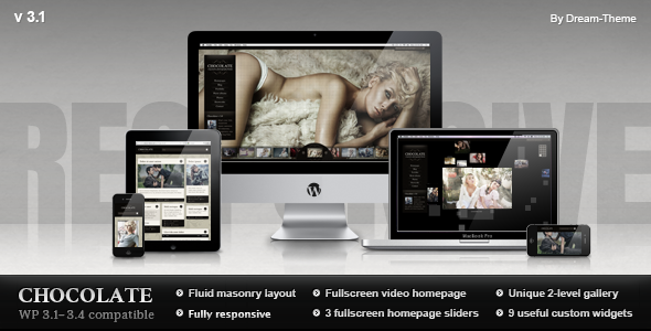 ThemeForest Chocolate WP Responsive Photography Theme 299901