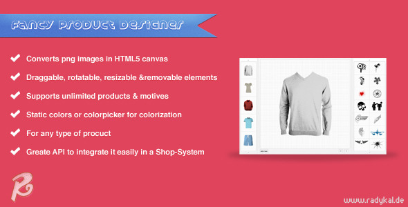 CodeCanyon Fancy Product Designer jQuery plugin 3581183