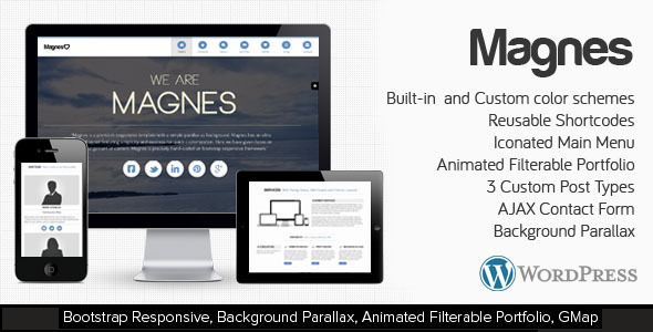 ThemeForest Magnes WordPress Responsive Clean & Modern Theme 3581388