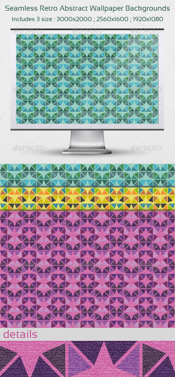 Seamless Retro Abstract Wallpaper Backgrounds - Patterns Backgrounds