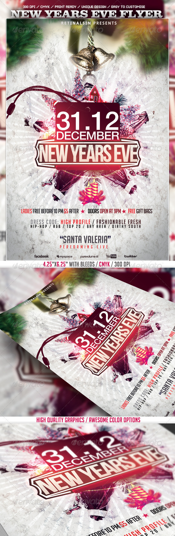 GraphicRiver New Years Eve Flyer Template 3581682