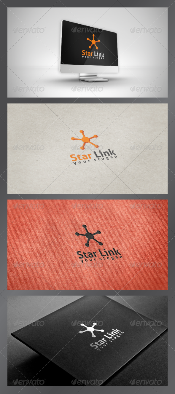 GraphicRiver Star Link Logo Template 3547408