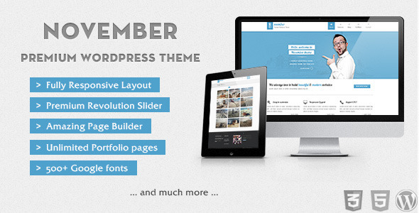 November - Clean  Modern Wordpress Theme