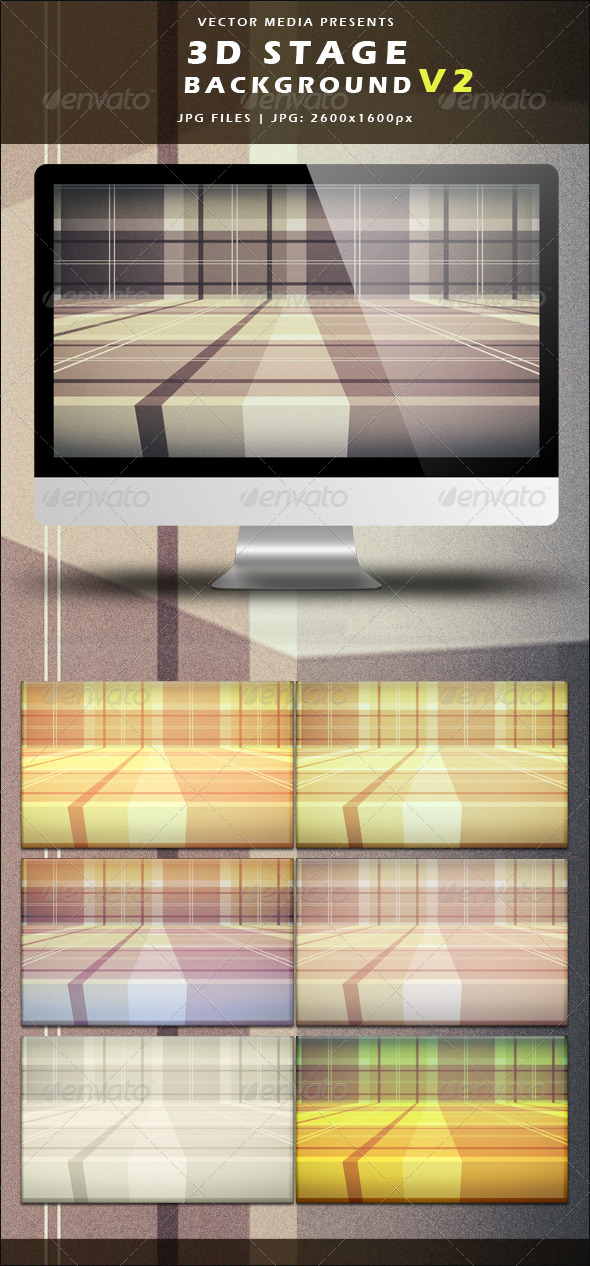 GraphicRiver 3D Stage Background Vol.2 3581979