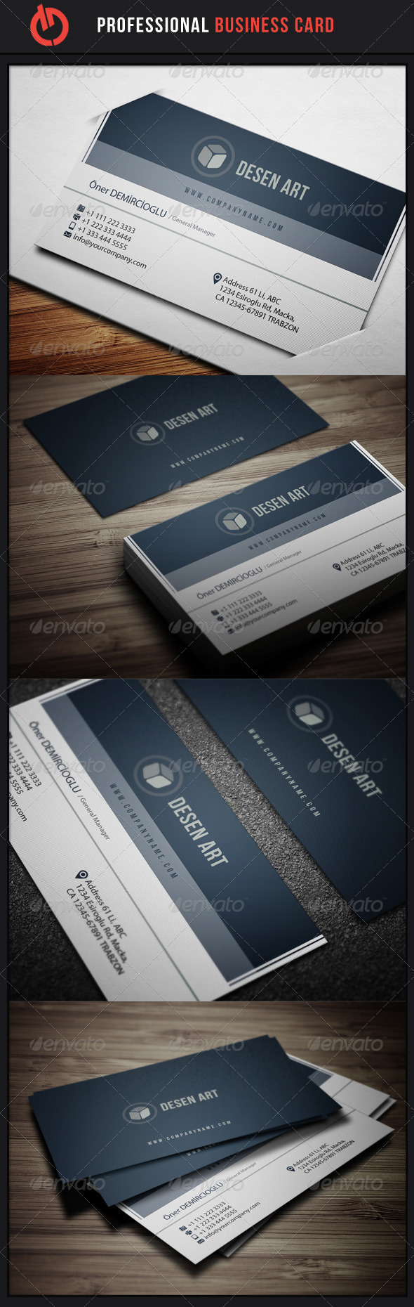 GraphicRiver Professional Business Card 2 3382290