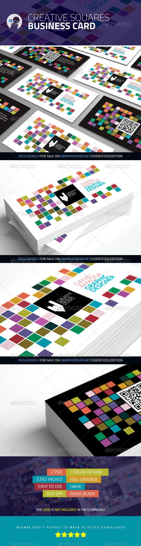 GraphicRiver Creative Squares Business Card 3545573