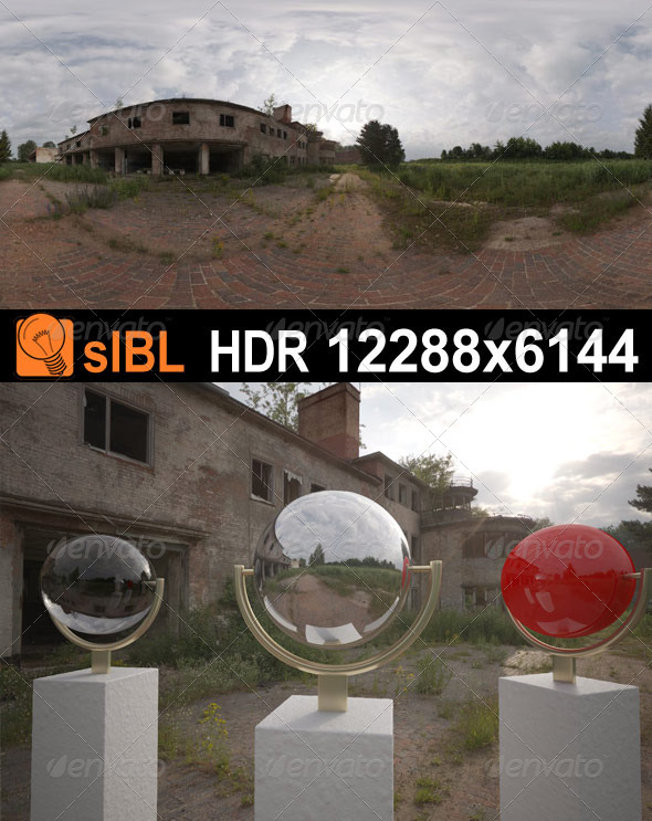HDR 076 Old Hangar sIBL - 3DOcean Item for Sale
